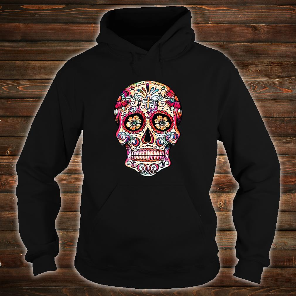 Gorgeous Sugar Skull Picture Colorful Image Day Dead Muertos Shirt hoodie