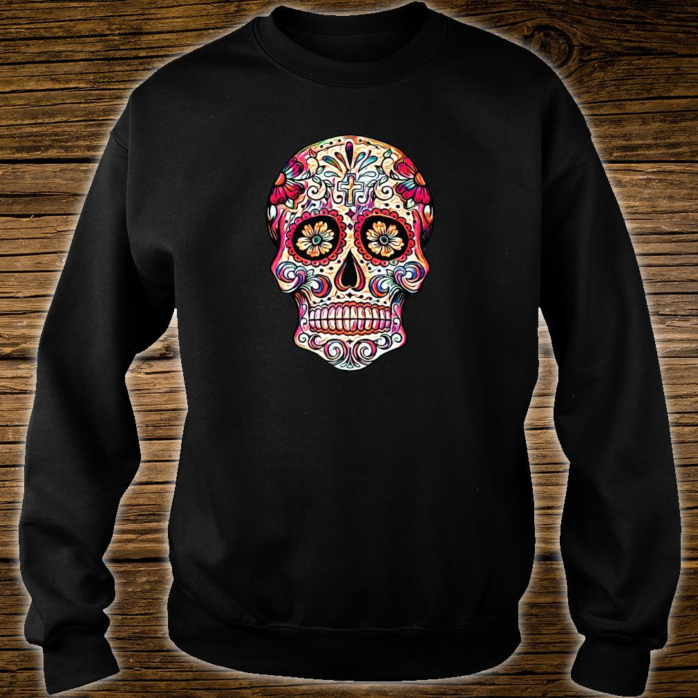 Gorgeous Sugar Skull Picture Colorful Image Day Dead Muertos Shirt sweater