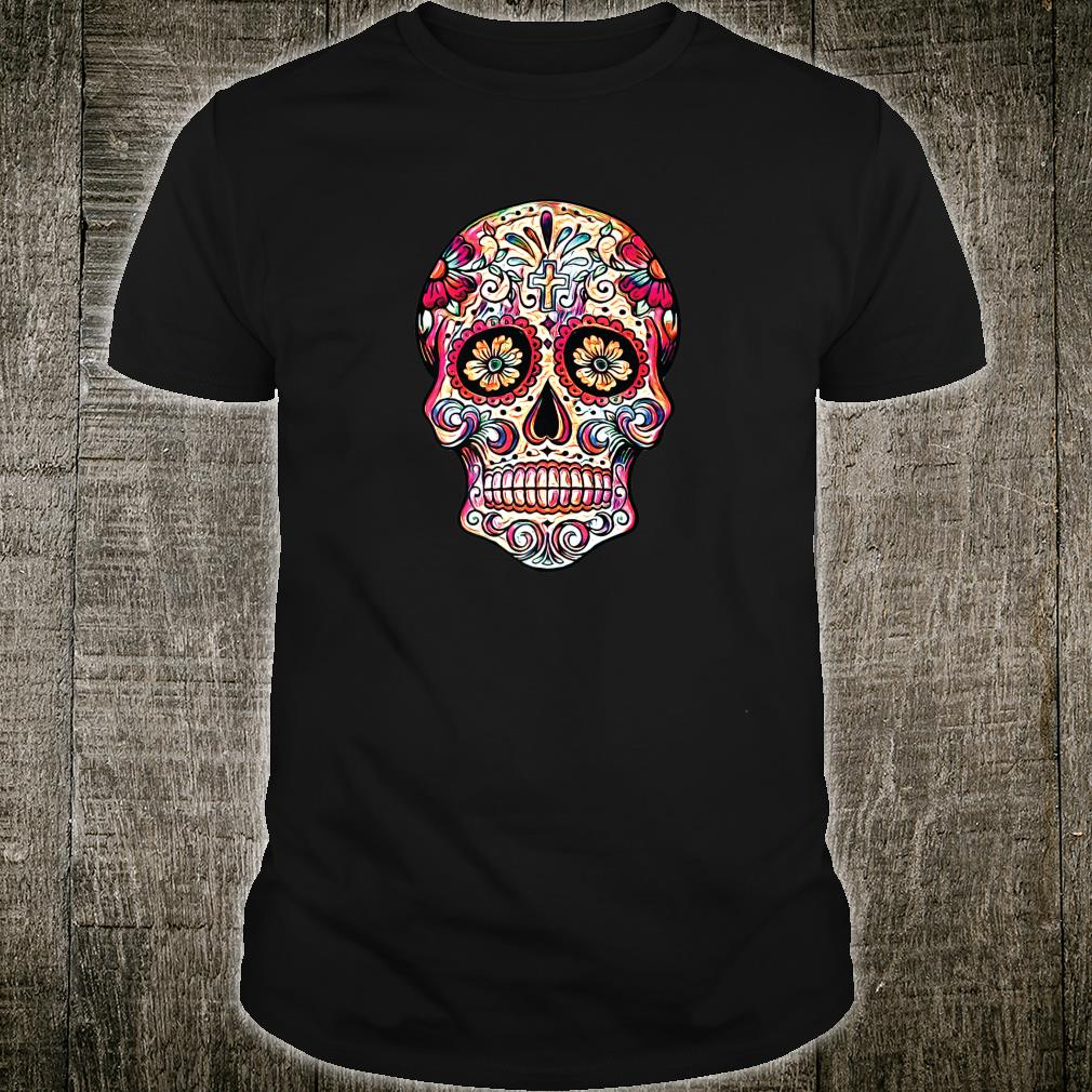 Gorgeous Sugar Skull Picture Colorful Image Day Dead Muertos Shirt