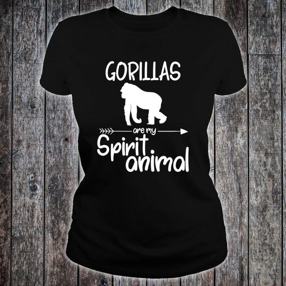 Gorillas Are My Spirit Animal Shirt ladies tee