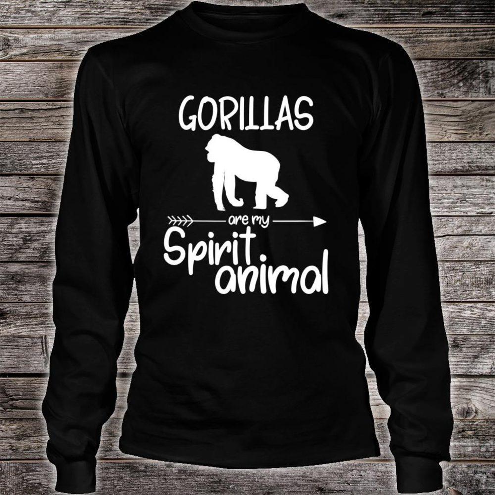 Gorillas Are My Spirit Animal Shirt long sleeved