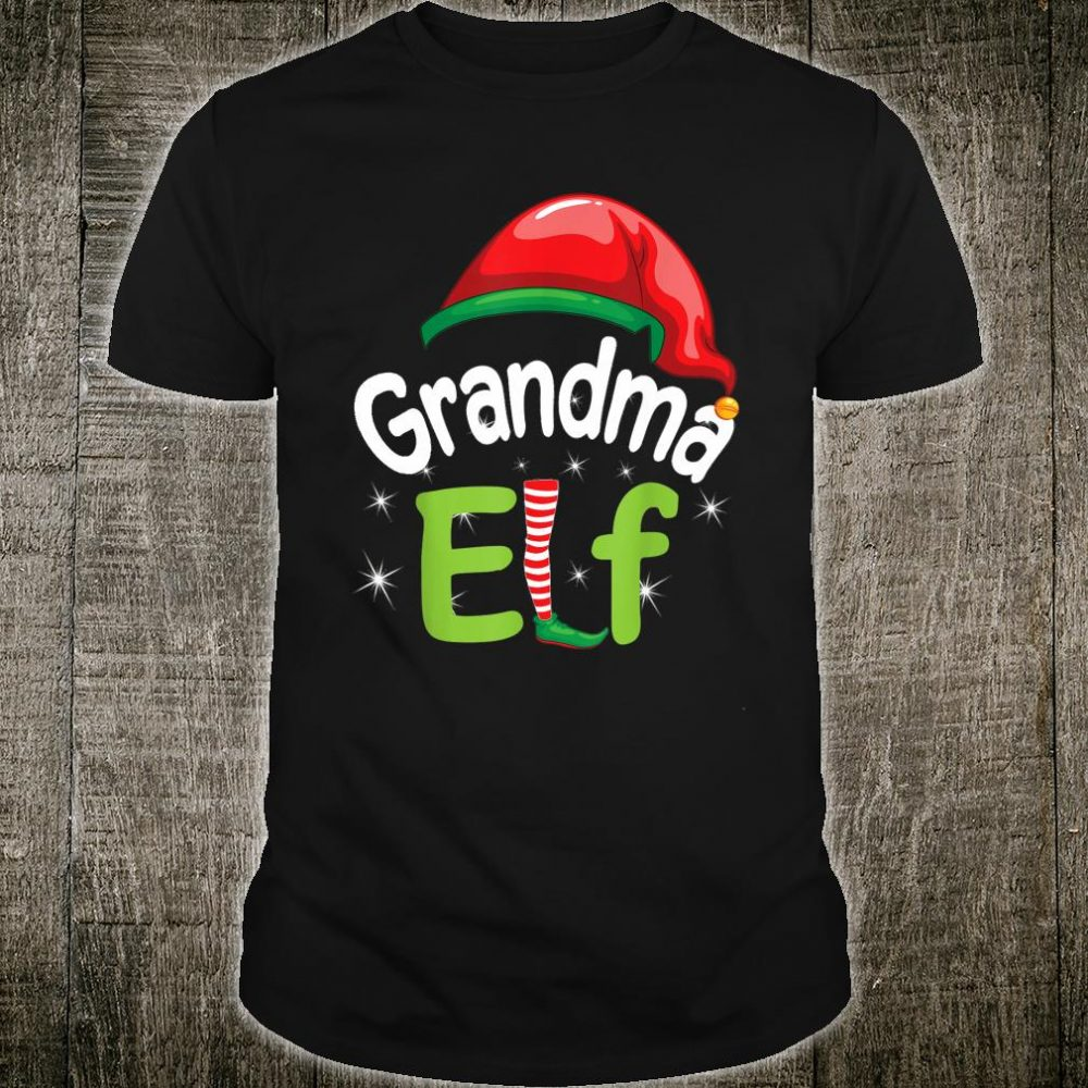 Grandma Elf Matching Family Pajama Merry Christmas Costume Shirt