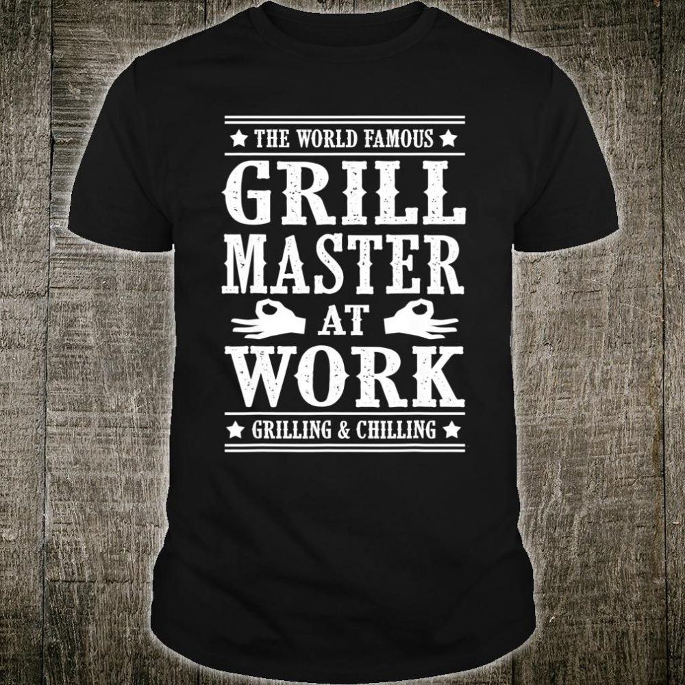 Grill Master Barbecue BBQ Smoker Grillin Dad Grandpa Shirt