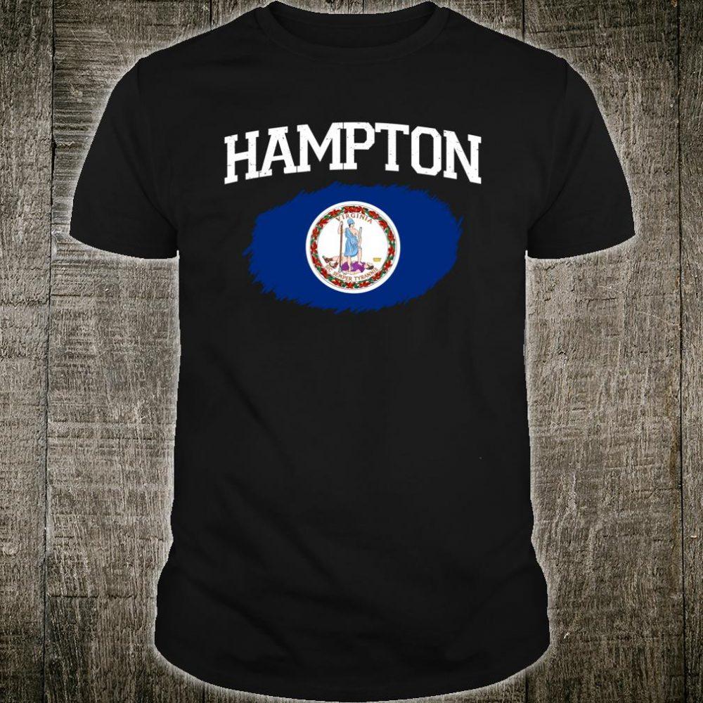 HAMPTON VA VIRGINIA Flag Vintage USA Sports Shirt