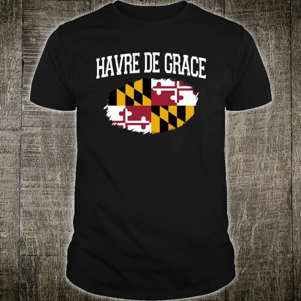 HAVRE DE GRACE MD MARYLAND Flag Vintage USA Sports Shirt