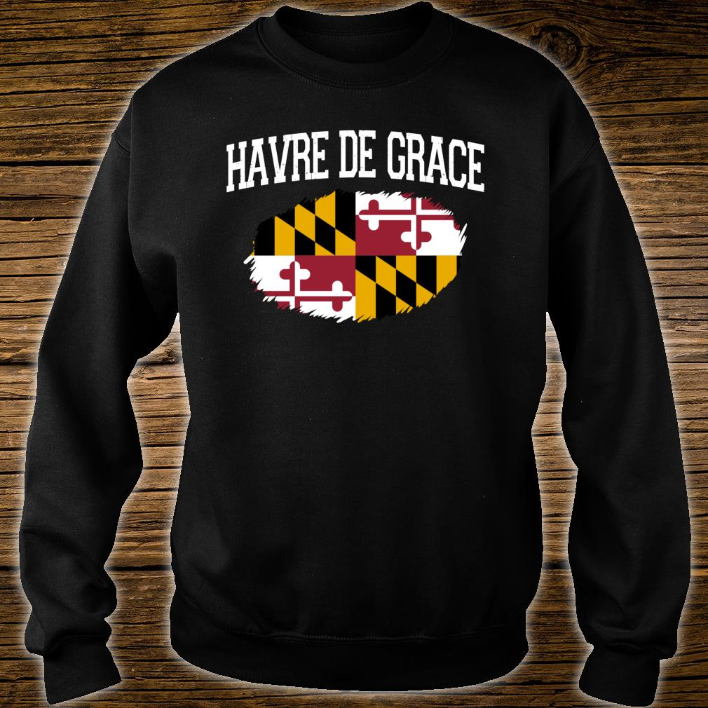 HAVRE DE GRACE MD MARYLAND Flag Vintage USA Sports Shirt sweater