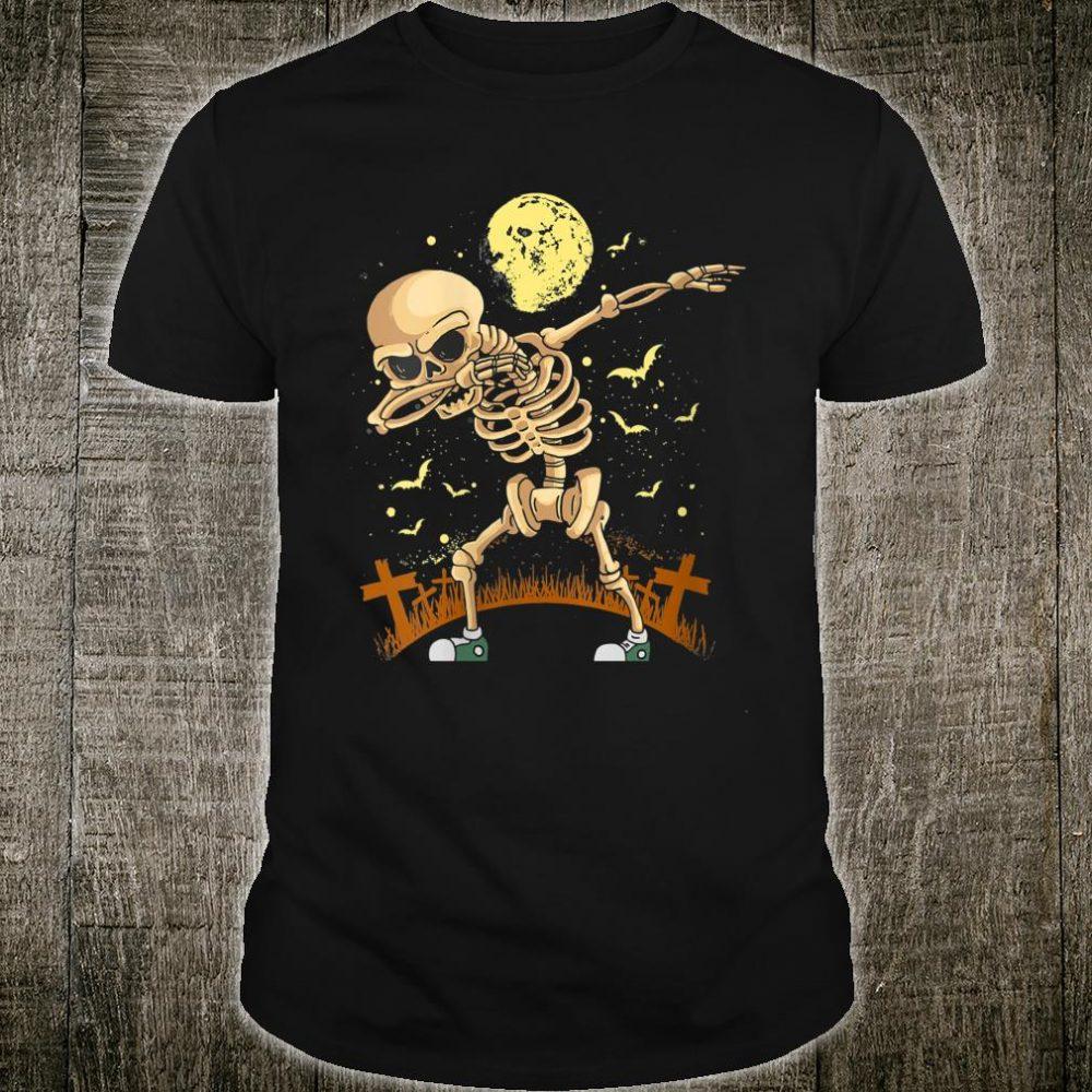 Halloween Dabbing Skeleton Costume Dab Shirt