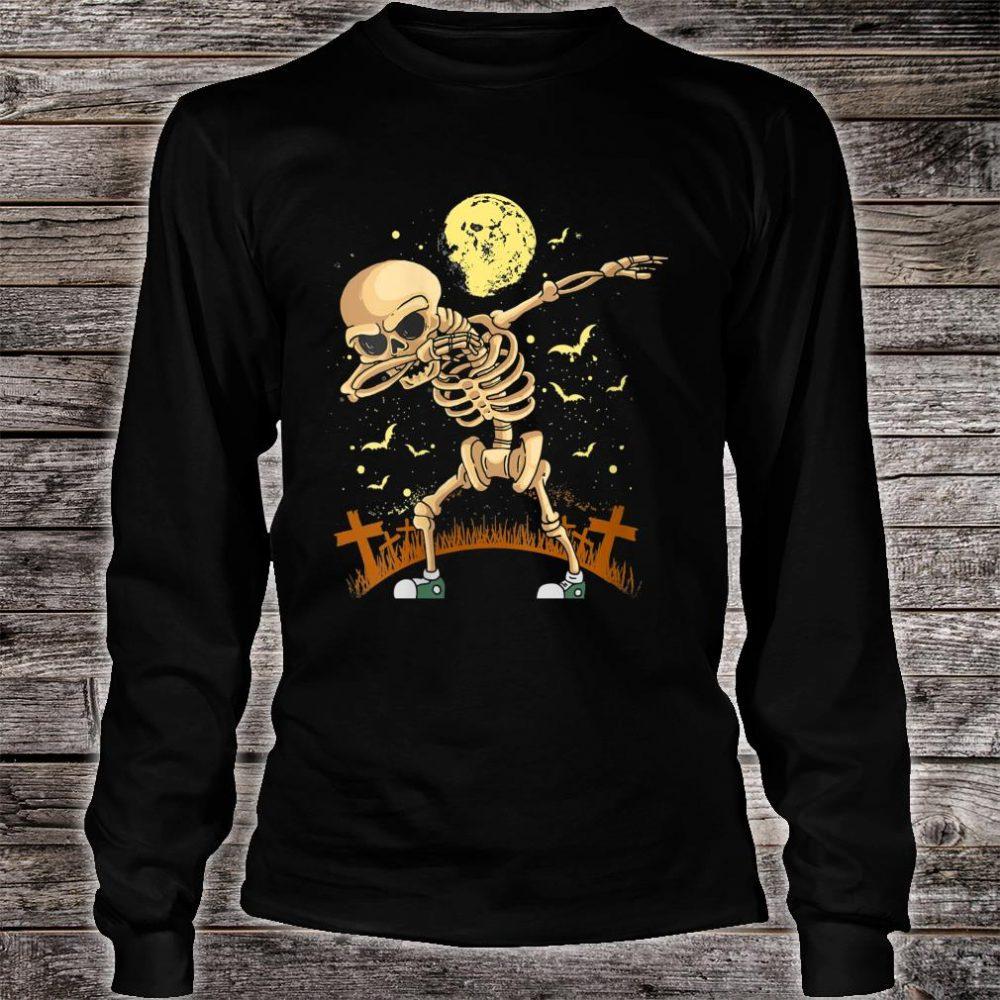 Halloween Dabbing Skeleton Costume Dab Shirt long sleeved