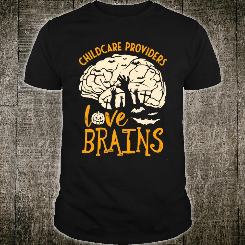 Halloween Daycare Provider - Childcare Providers Love Brains Shirt