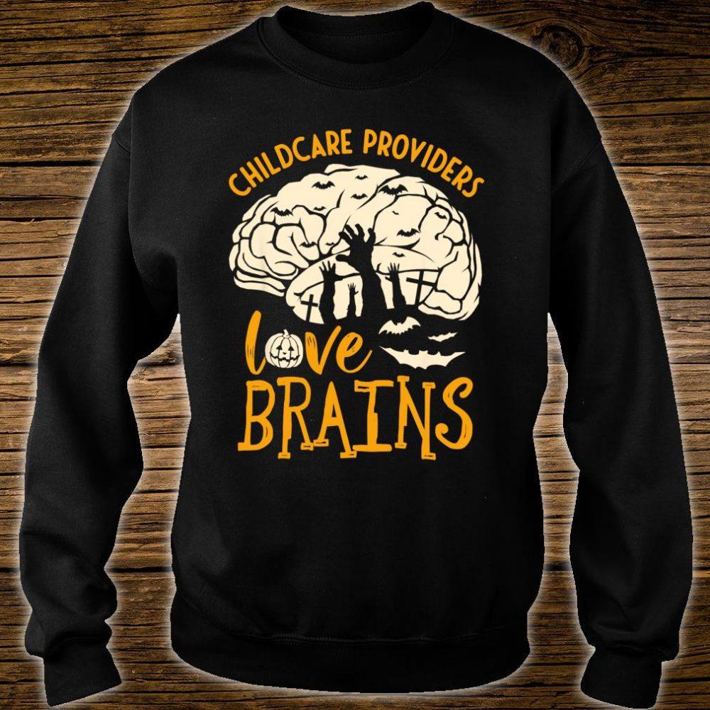 Halloween Daycare Provider - Childcare Providers Love Brains Shirt sweater