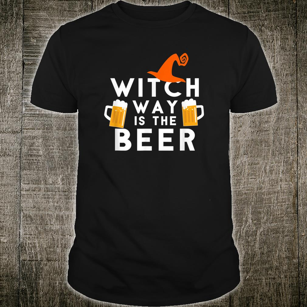 Halloween Party Witch Way is the Beer Shirt