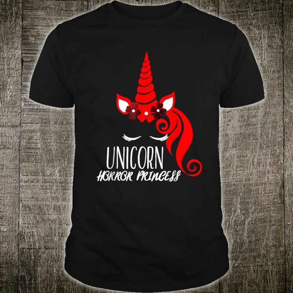 Halloween Shirt Unicorn Horror Princess Shirt