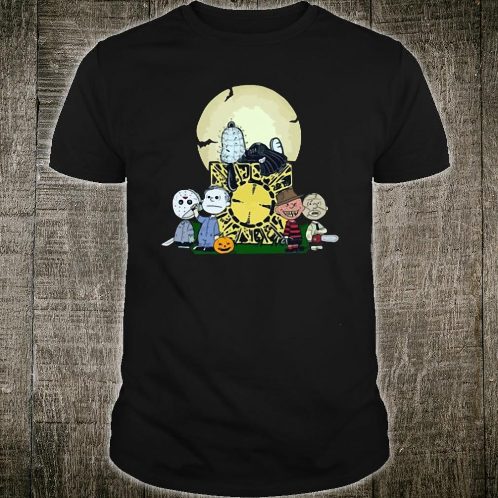 Halloween slash snoopy charlie brown style Horror character shirt