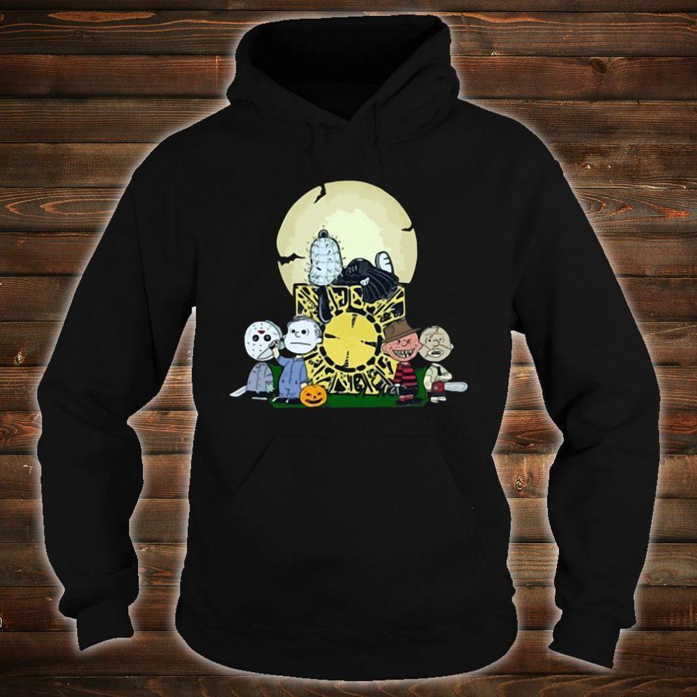 Halloween slash snoopy charlie brown style Horror character shirt hoodie
