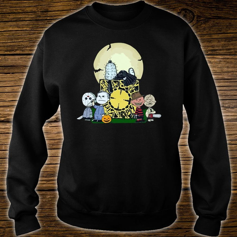 Halloween slash snoopy charlie brown style Horror character shirt sweater