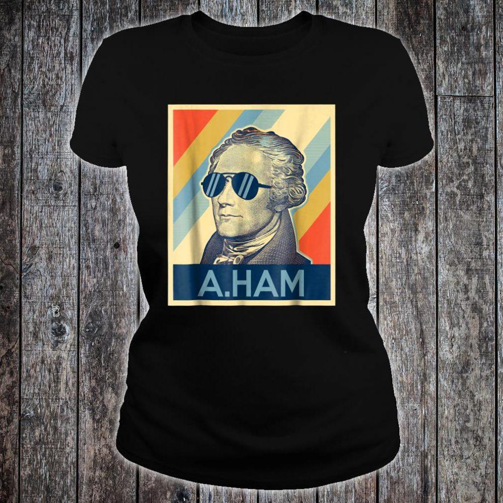 Hamilton wearing sunglasses Shirt ladies tee
