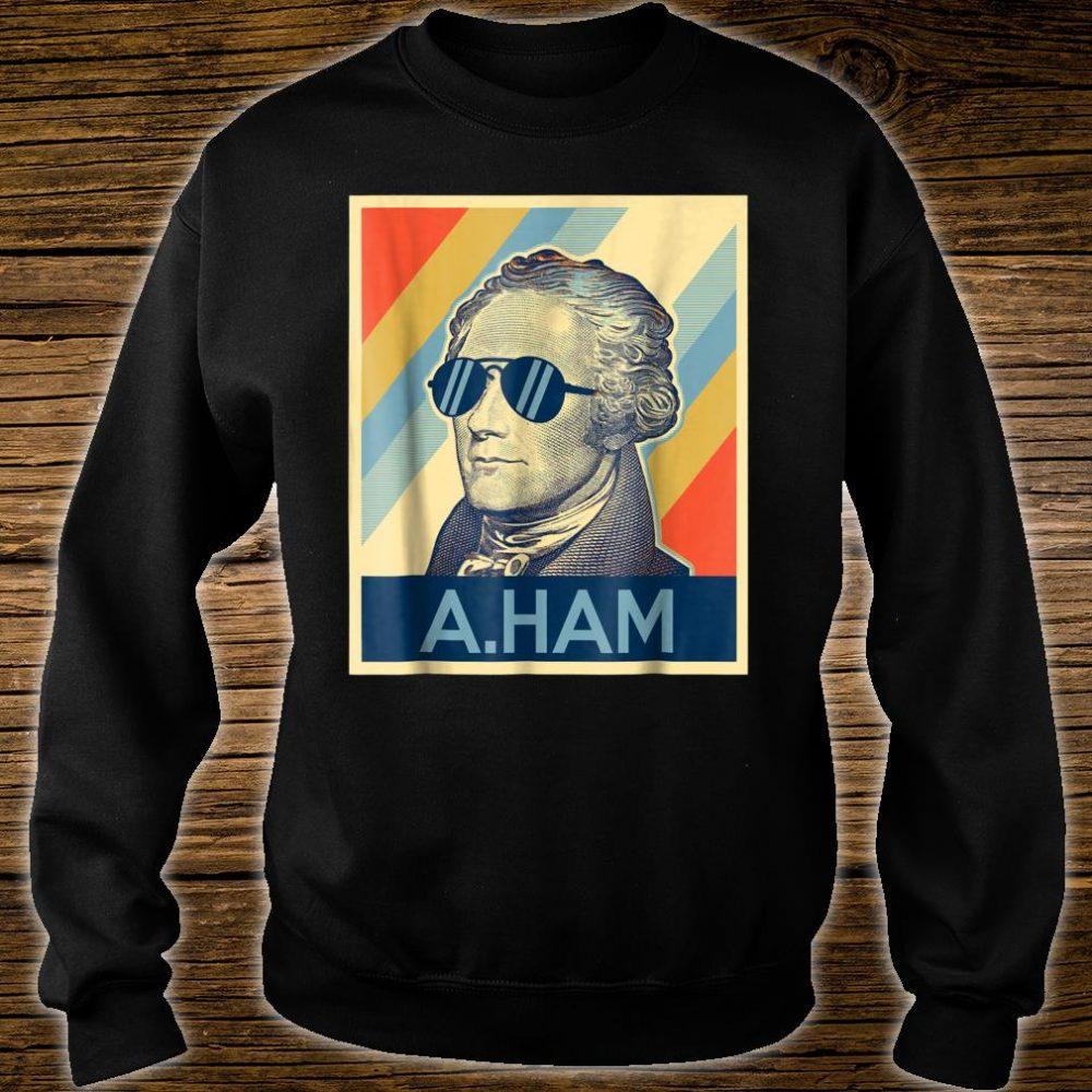 Hamilton wearing sunglasses Shirt sweater