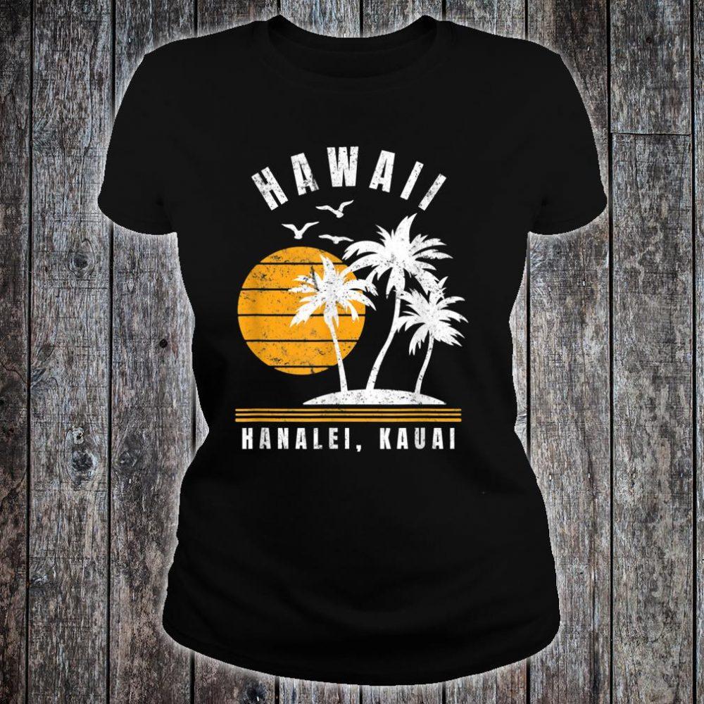 Hanalei Kauai Hawaii Beach Vacation Shirt ladies tee