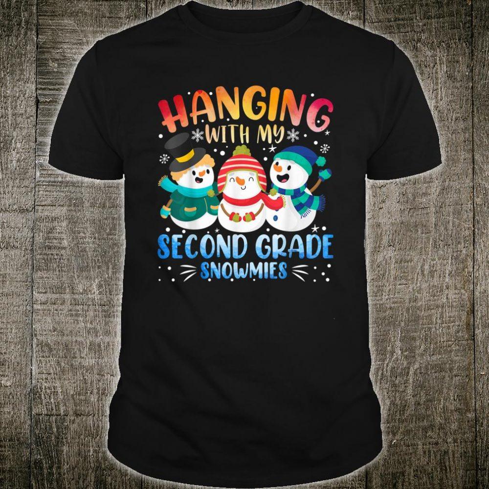 Hanging With My Second Grade Snowmies Teacher Christmas Shirt