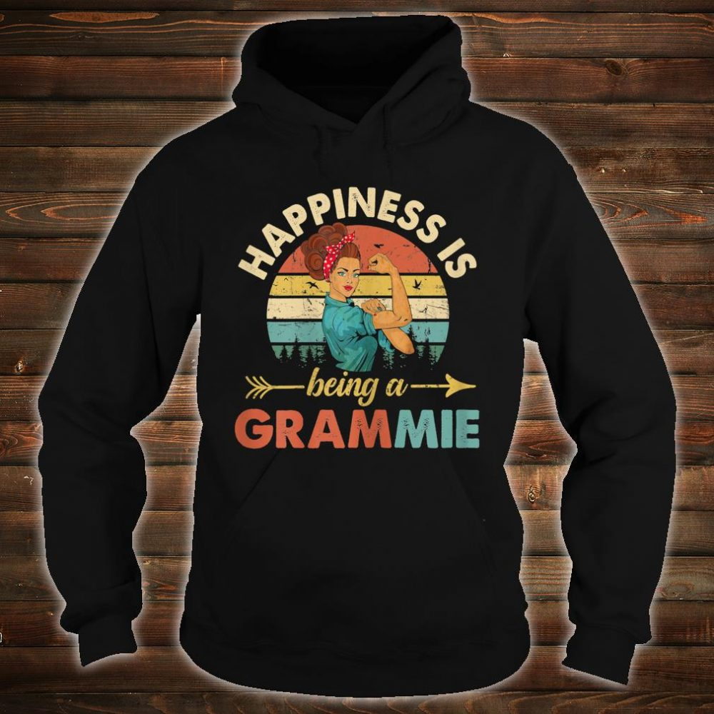Happines is being a Grammie Floral Grandma Shirt hoodie