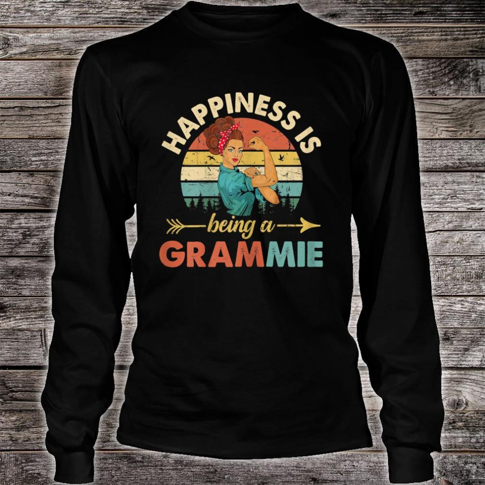 Happines is being a Grammie Floral Grandma Shirt long sleeved