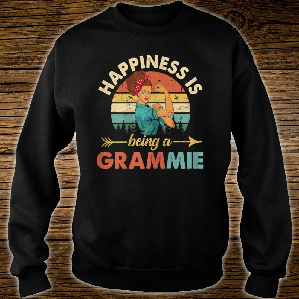 Happines is being a Grammie Floral Grandma Shirt sweater