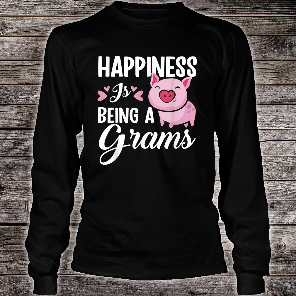Happiness Is Being A Grams Pig Shirt long sleeved