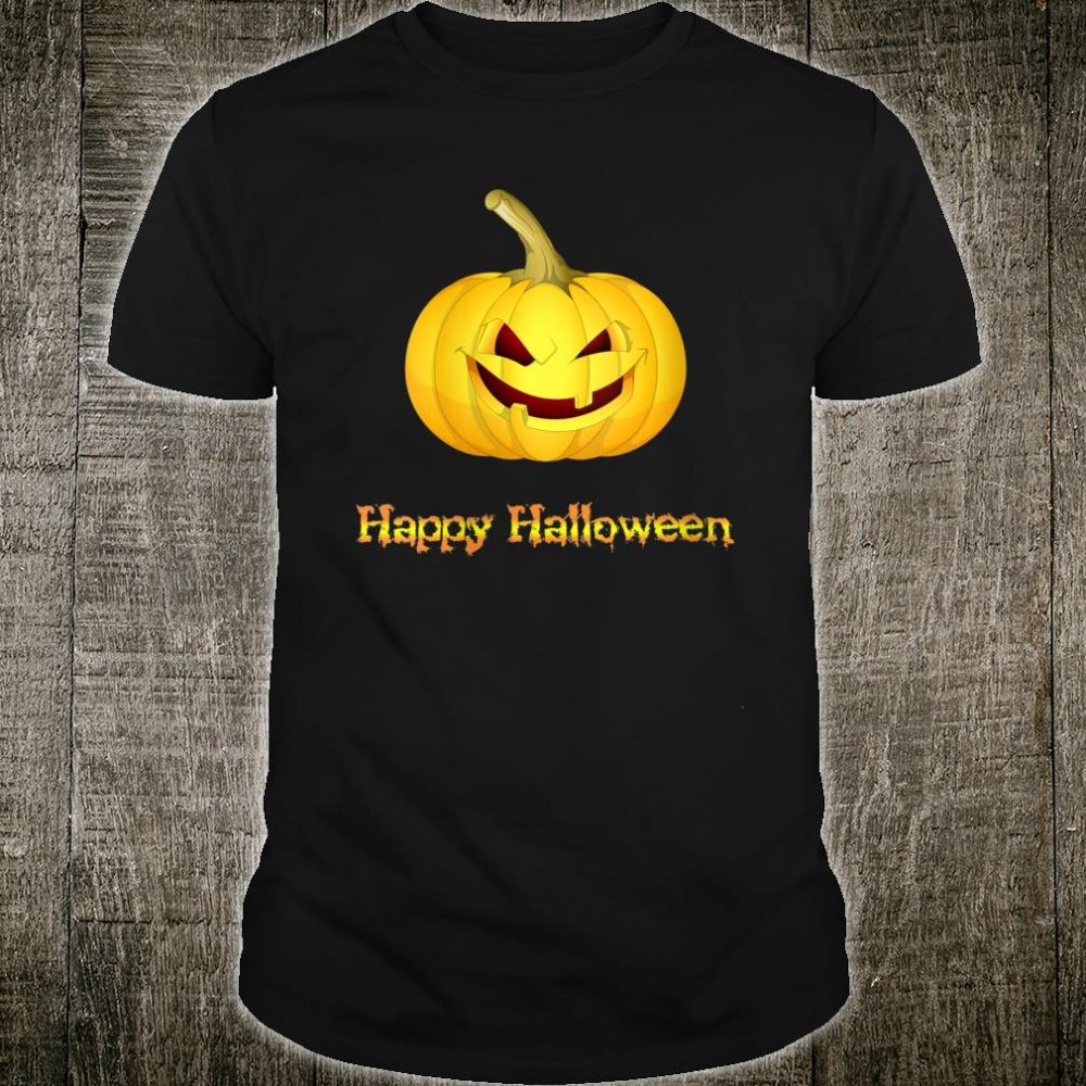 Happy Halloween - Funny Smiling Pumpkin Face Shirt