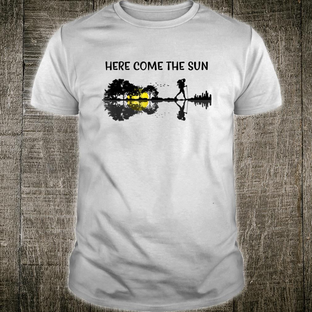 Here Comes The Sun Guitar Hiking Graphic Shirt