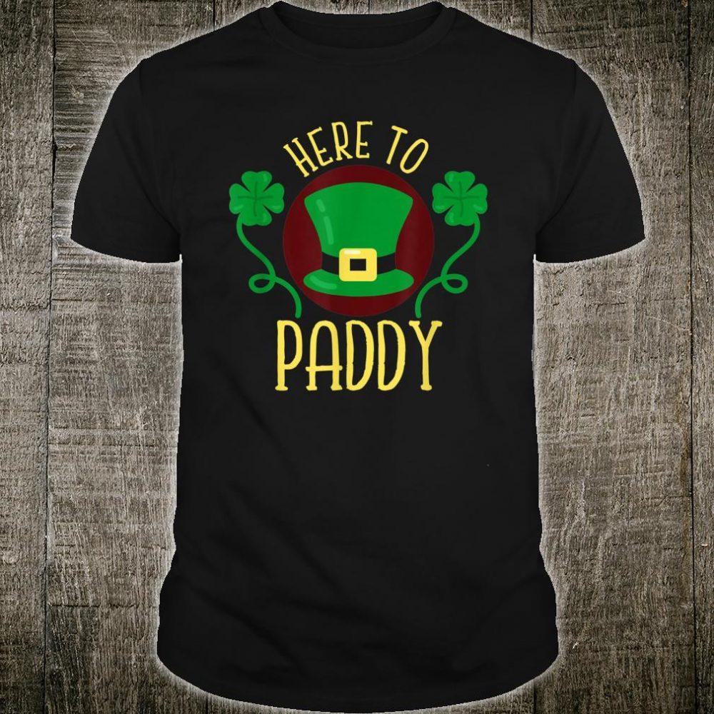 Here To Paddy Irish Leprechaun Hat Clovers Shirt