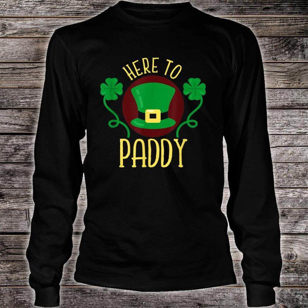 Here To Paddy Irish Leprechaun Hat Clovers Shirt long sleeved