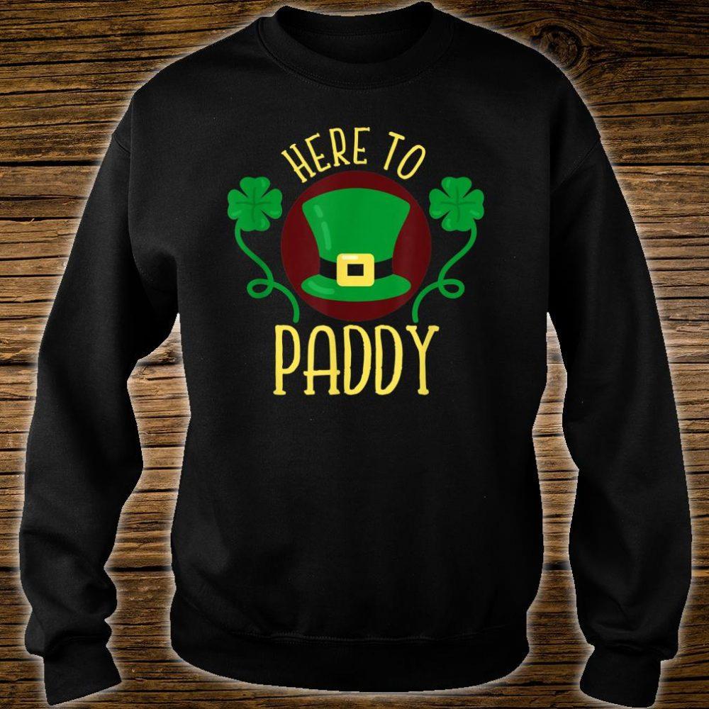 Here To Paddy Irish Leprechaun Hat Clovers Shirt sweater