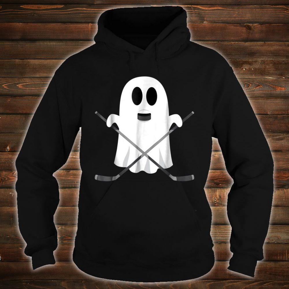 Hockey Halloween Costume Ghost Puck Bite Shirt hoodie