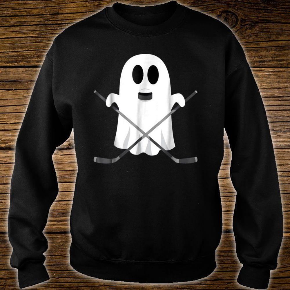 Hockey Halloween Costume Ghost Puck Bite Shirt sweater