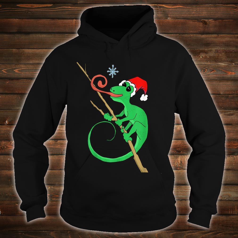 Holiday gecko with snowflake Shirt hoodie