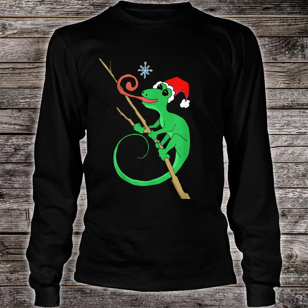 Holiday gecko with snowflake Shirt long sleeved
