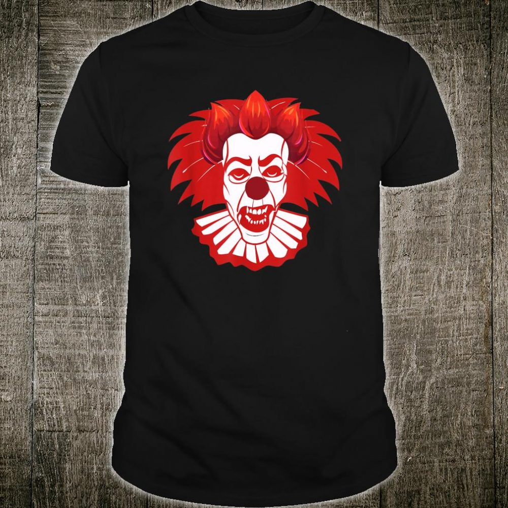Horror clown with red hair. Made for Halloween Shirt