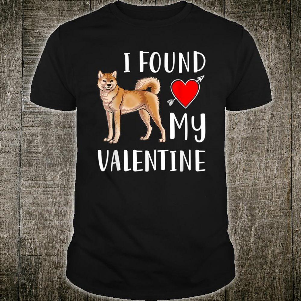 I Found My Valentine Day Akita Lover Shirt