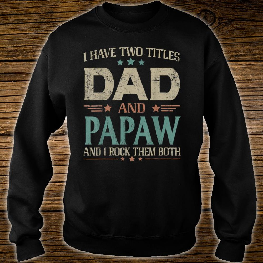 I Have Two Titles Dad And Papaw Fathers Day Shirt sweater