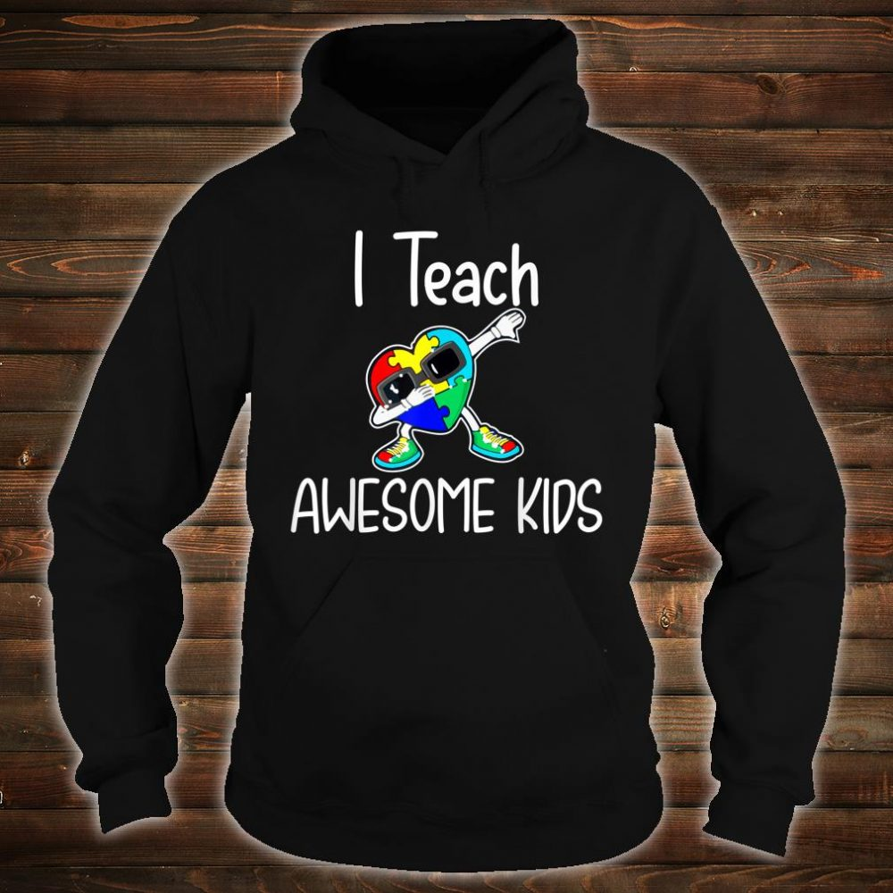 I Teach Awesome Kids Puzzle Autism Awareness Shirt hoodie