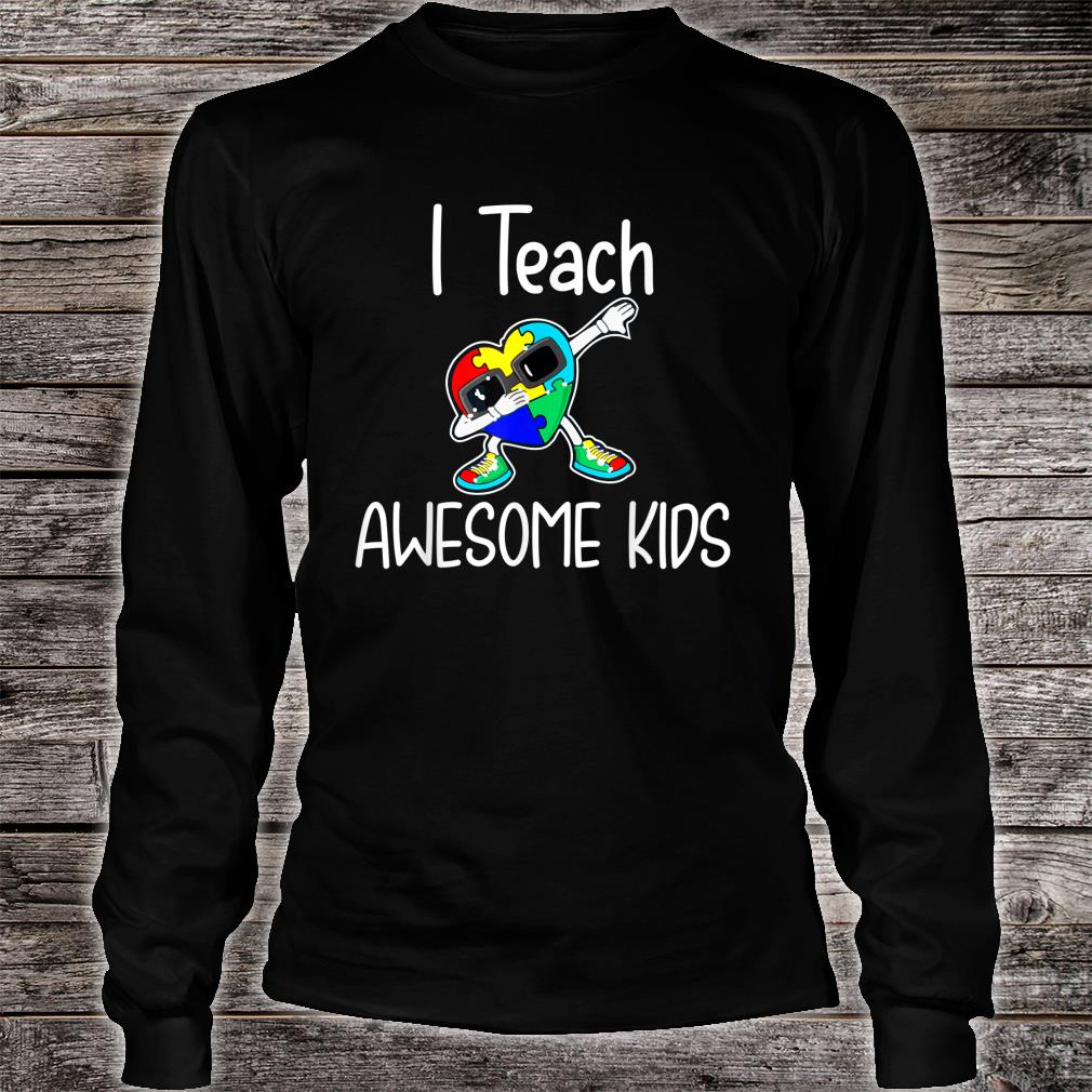 I Teach Awesome Kids Puzzle Autism Awareness Shirt long sleeved