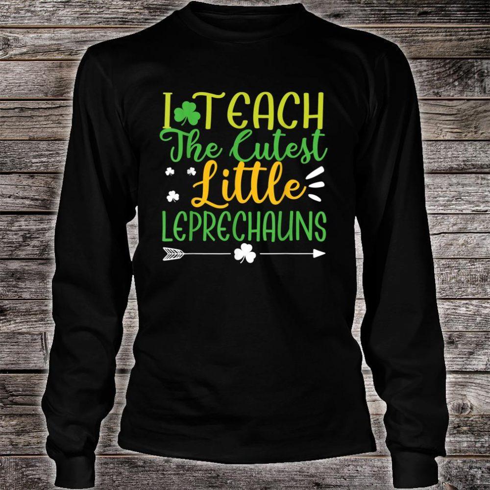 I Teach Cutest Leprechauns St. Patrick's Day Teacher Shirt long sleeved
