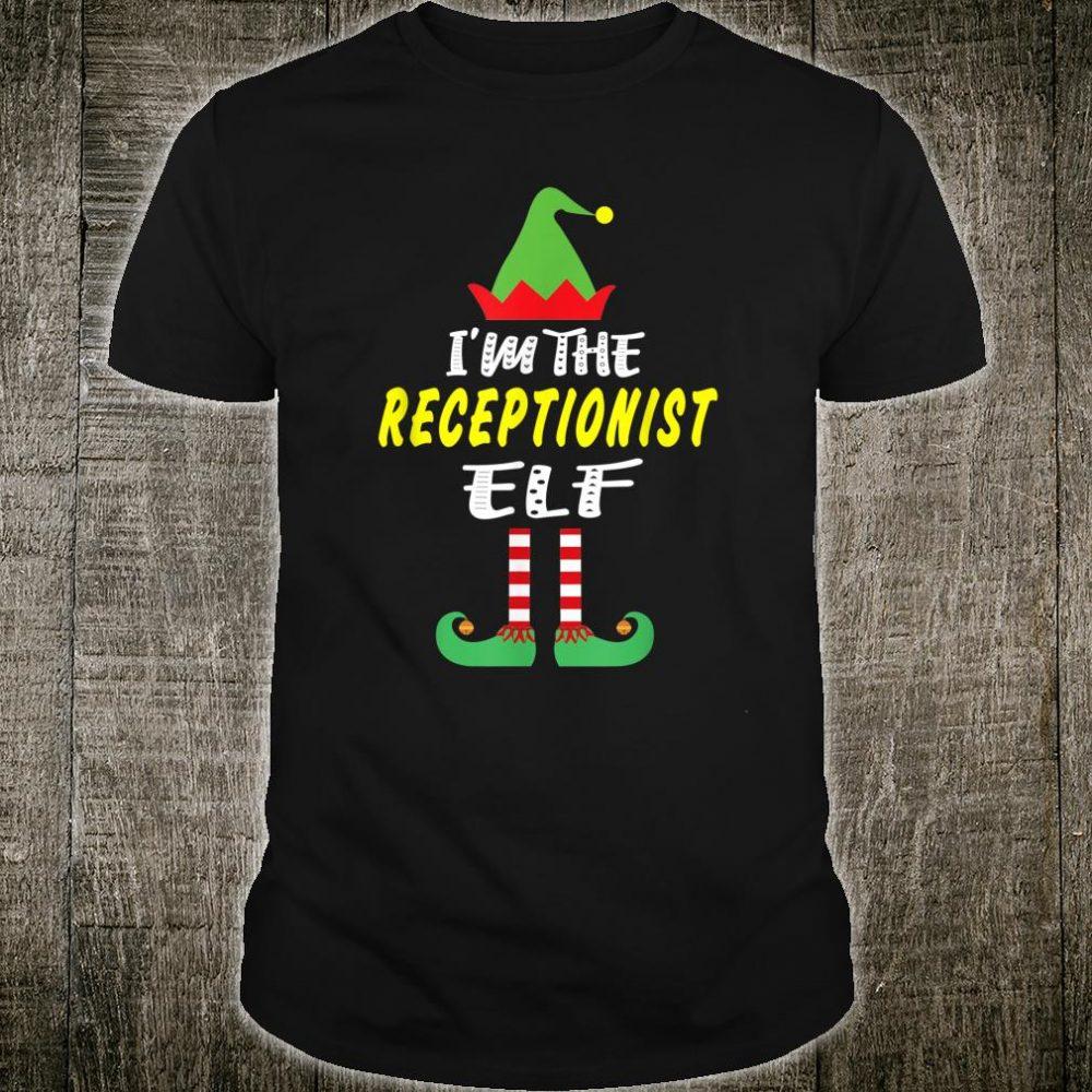 I'm The Receptionist Elf Christmas Shirt