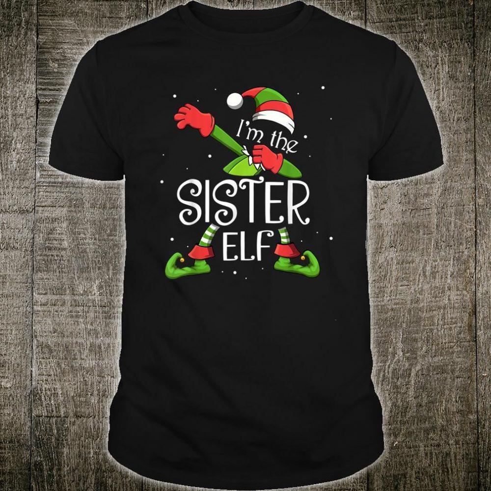 I'm the Sister Elf Dabbing Family Xmas Shirt