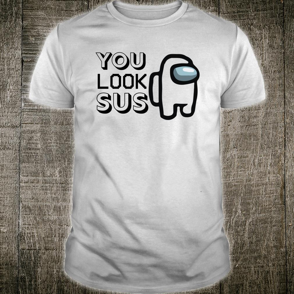 Imposter Among Game Us You Look Sus Gamer Crew Costume Fan Shirt
