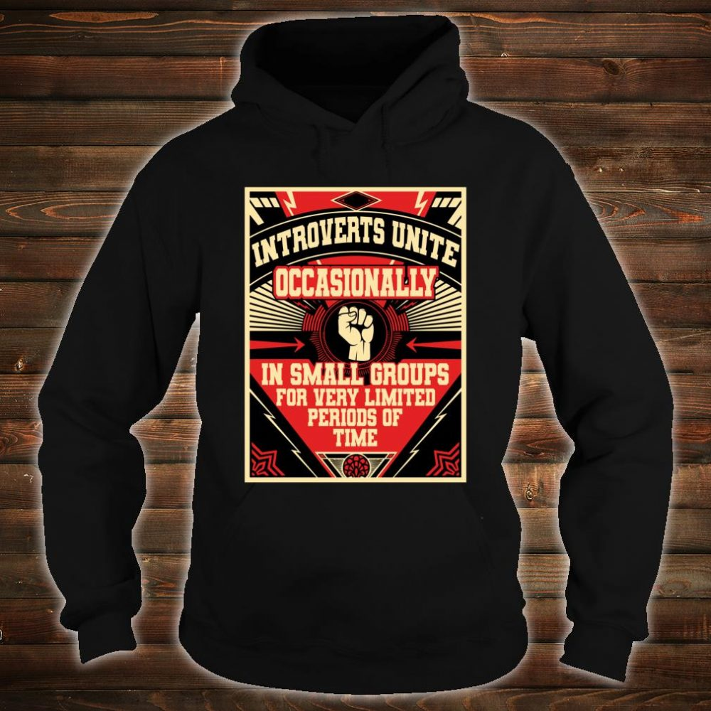 Introverts Unite Occasionally In Small Shirt hoodie