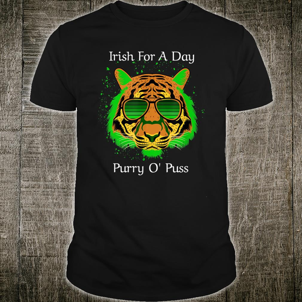 Irish For A Day Purry O'Puss Lucky Tiger with Shades Shirt