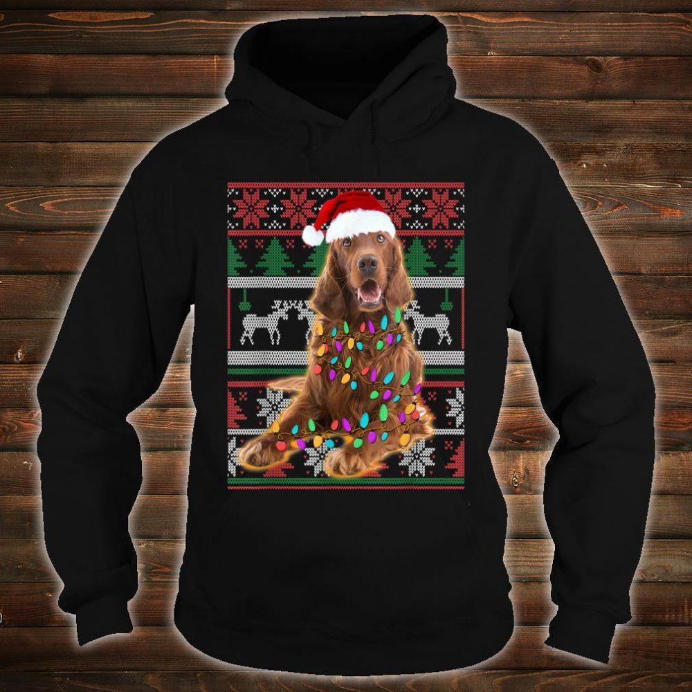 Irish Setter Ugly Sweater Christmas Shirt hoodie