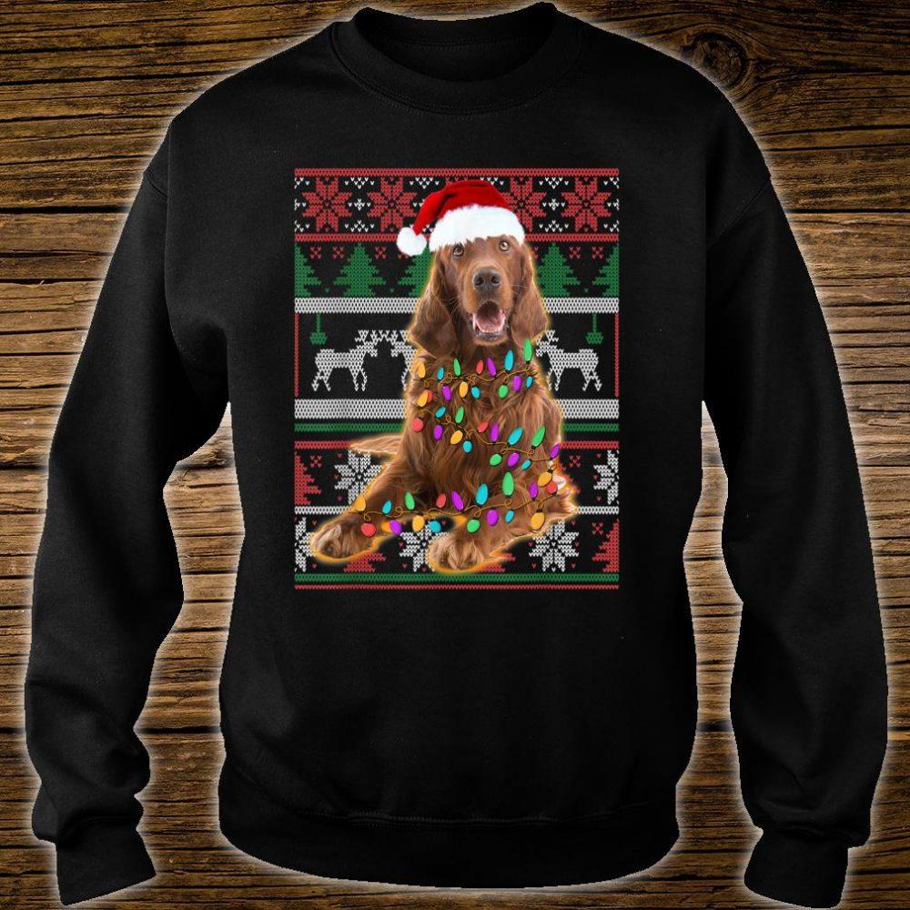 Irish Setter Ugly Sweater Christmas Shirt sweater