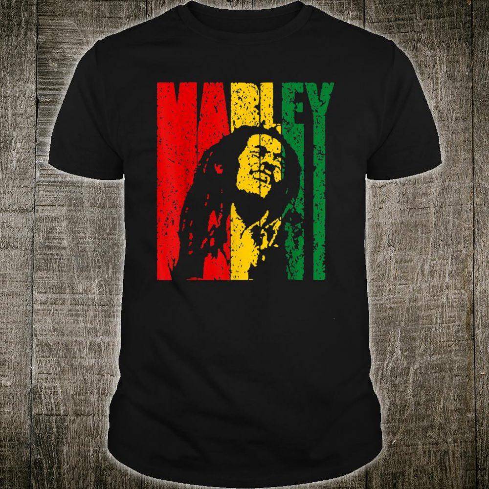Jamaica Reggae Rasta Music Flag Vintage Bob Tees Marley Shirt